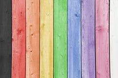Rainbow Planks Royalty Free Stock Image