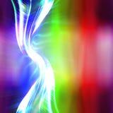 Rainbow Plasma Fractal Layout royalty free illustration