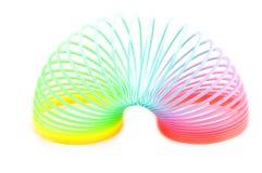 Rainbow plastic spring toy Stock Photo