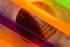 Rainbow plexiglas Stock Photography