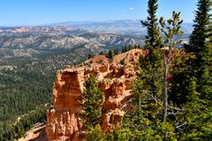 Rainbow Point Bryce Canyon National Park royalty free stock photos