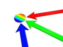 Rainbow pointer Stock Image
