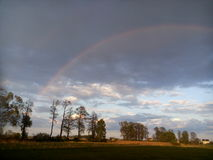 Rainbow. In poland after rain Royalty Free Stock Image