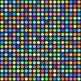 Rainbow polka dot pattern. Seamless vector background vector illustration