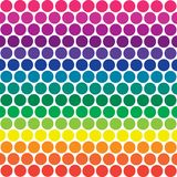Rainbow Polka Dots. Illustration of bright rainbow colored polka dots Stock Images
