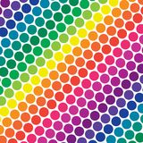 Rainbow Polka Dots Royalty Free Stock Photography