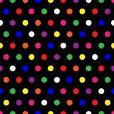 Rainbow Polka Dots vector illustration