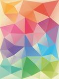 Rainbow  polygonal background. Stock Photography
