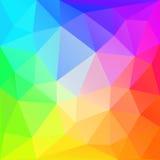 Rainbow polygonal  background. Vector EPS10. Stock Images