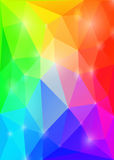 Rainbow polygonal  background. Vector EPS 10. Royalty Free Stock Images