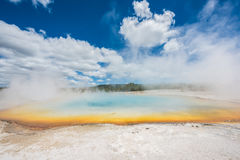 Rainbow pool in Black Sand Basin of Yellowstone National Park Royalty Free Stock Photos