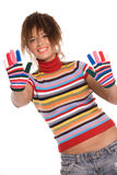 Rainbow portrait Stock Photos