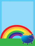 Rainbow Pot of Gold Stock Photography