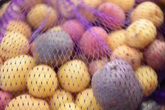 Rainbow potatoe stock photo stock photo