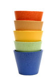 Rainbow Pots Royalty Free Stock Photo