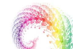 Rainbow Power Wave Abstract Background. Rainbow Power Wave Abstract on a White Background Royalty Free Stock Photo