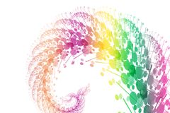 Rainbow Power Wave Abstract Background Royalty Free Stock Photography