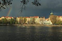 Rainbow in Prague Stock Photo