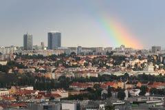 Rainbow in Prague Stock Photos