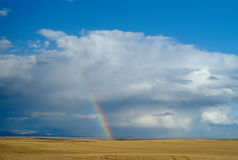 Rainbow on the Prairie Stock Images