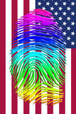 Rainbow Pride Identity. Over US FLag Royalty Free Stock Photos