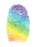 Rainbow pride thumbprint. fingerprint Royalty Free Stock Images