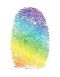 Rainbow pride thumbprint. fingerprint. Illustration design over white Royalty Free Stock Images