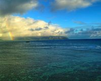 Rainbow Promise. Rainbow in Kaneohe Bay Hawaii Stock Image