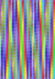 Rainbow psychedelic pixelated background with vertical strips in vivid colors, multicolored high contrasting vector abstract backg Royalty Free Stock Image