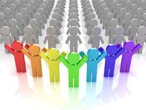 Rainbow puppets Royalty Free Stock Photo