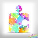 Rainbow puzzle Stock Photography
