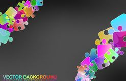 Rainbow puzzle Royalty Free Stock Photos