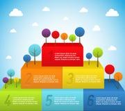 Rainbow pyramid with trees Stock Photography