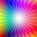 Rainbow radial glow. Rainbow scintillating radial glow from white to rainbow Stock Photography