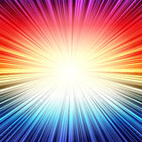 Rainbow radial stripes burst explosion background Royalty Free Stock Photos