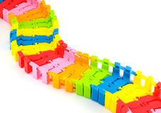 Rainbow rail road Stock Image