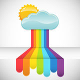 Rainbow rain Stock Images