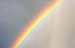 Rainbow in the Rain Royalty Free Stock Image