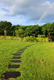 Rainbow after rain Royalty Free Stock Image