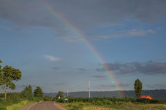 Rainbow. S in northeast of Thailand Royalty Free Stock Photography