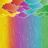 Rainbow rains Stock Images