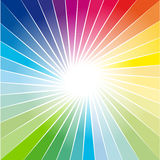 Rainbow Ray of lights explosion background Stock Image