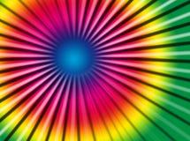 Rainbow rays Stock Images