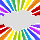 Rainbow Rays Cloud Greeting Card Royalty Free Stock Photos