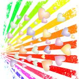 Rainbow rays Royalty Free Stock Images