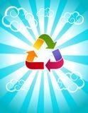 Rainbow Recycle Icon Stock Photography