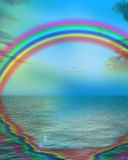 Rainbow reflected Royalty Free Stock Images