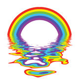 Rainbow Reflection Stock Photography