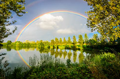 Rainbow reflection royalty free stock photography