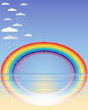 Rainbow reflections Royalty Free Stock Photography